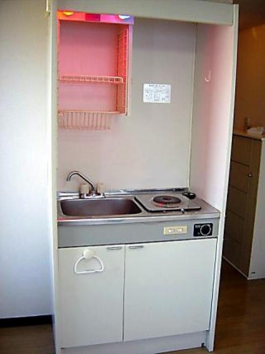キッチン - 半月間 家賃無料 新宿まで18分 ロフト付ワンルームアパート  1階 2階のお部屋です} - ルームシェアルームメイト