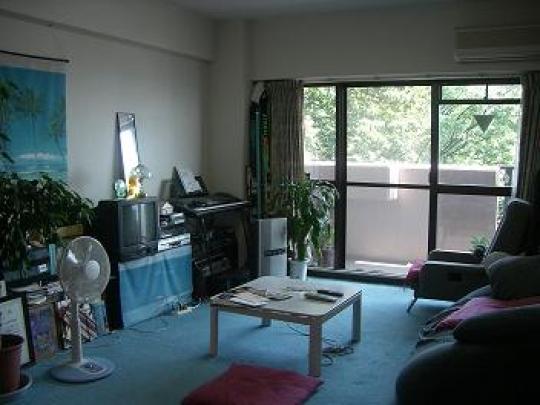 リビング - 閑静な住宅街、マンション上階3LDKのお部屋です。和室6畳(即入居OK)} - ルームシェアルームメイト