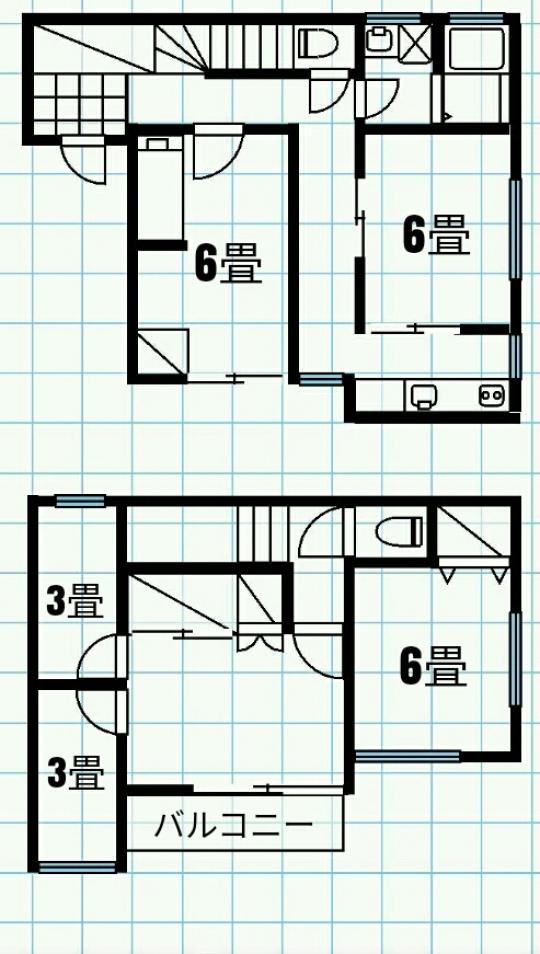 間取り図 - 西武池袋線東久留米。女性専用の個室、エアコン、ベッド、鍵付きで18000~26000円} - ルームシェアルームメイト