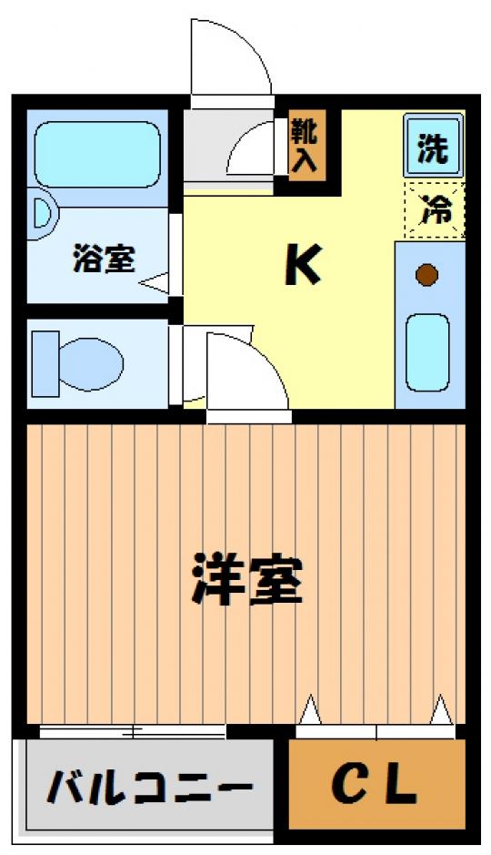 間取り図 - 大家直貸し、手数料一切0円【高井戸】オートロック付 高級マンション ウォシュレット、浴室乾燥機、充実装備} - ルームシェアルームメイト