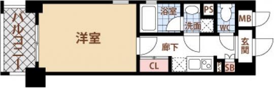 間取り図 - めっちゃ×2イケイケ!!!!! 1Kの29.14㎡です!!} - ルームシェアルームメイト