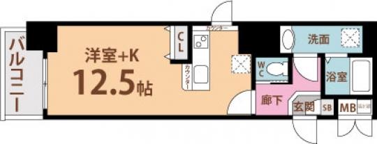 間取り図 - 地下鉄谷町線、堺筋線、京阪線へのアクセスが超絶怒涛に便利です!!ジャスティス☝} - ルームシェアルームメイト