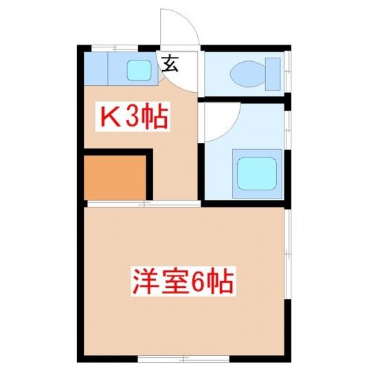間取り図 - SOHO利用可で家賃1万5千円の駅近物件です!!} - ルームシェアルームメイト
