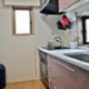 2ldk モダン分譲マンション、家電付、サブレット貸し キッチン の画像