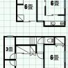 西武池袋線東久留米。女性専用の個室、エアコン、ベッド、鍵付きで18000~26000円 間取り図 の画像